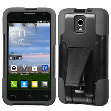 FOR Alcatel One touch Pop Star BLACK Inverse STAND RUBBERIZED SKIN COVER CASE