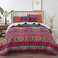 Floral Quilted Mandala Queen/King Size Bedspreads Set Coverlet Throw Comforter
