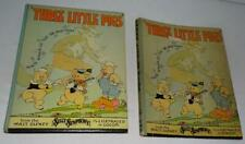"Nm Disney 1933""Three Little Pigs""Hardcover 64Page Book+Dust Cover-By Blue Ribbon"