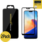 [2-Pack] SOINEED OnePlus 6 FULL COVER Tempered Glass Screen Protector (Black)