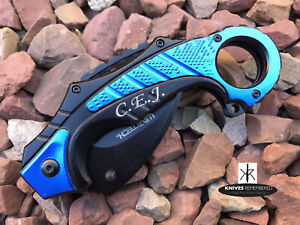 Monogram Custom Knives Tactical Engraved Personalized Knife CSGO Karambit KNIFE