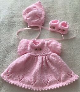 """HAND KNITTED  DOLLS CLOTHES FOR A 12"""" DOLL"""