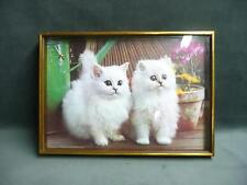 Realistic 3D textured wall hanging cat painting art clock home decor feline pets