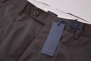 Zanella NWT Dress Pants Size 36 In Solid Dark Brown Wool Devon $325