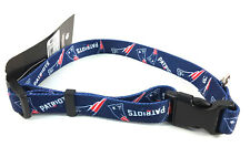 """New England Patriots Med Dog Collar 14"""" to 20"""" Officially Licensed NFL Product"""