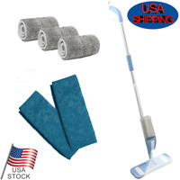 Spray Mop 360 Degree Swivel Floor Dust Sweeper + 5 Reusable Microfiber Mop Pad
