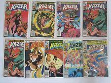 KAZAR: The Savage 8 Issue Run #1 2 3 4 4 5 6 7 & 8 FN/VF MARVEL Comics 1981 Lot