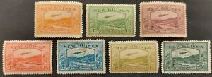 """New Guinea 1939 """"Air stamps"""" 7x stamps mh & used"""