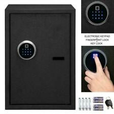 Fingerprint Biometric Digital Electronic Safe Box Keypad Lock Security with Keys