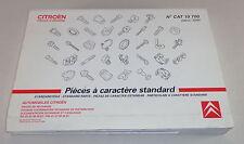 Parts Catalog Citroen Xsara Xantia XM Saxo Berlingo for standard parts St. 07/1997