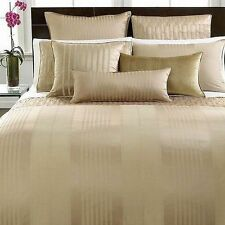 Hotel Collection Classic Stripe Nuetral Quilted Euro Sham NIP MRSP $110