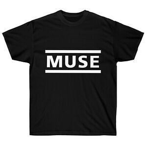 Muse Clean Classic Name Logo Black T Shirt New Official Band Merch Adult Men #93