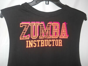 New Woman's Zumba Dance Tribe INSTRUCTOR Tank Bold Black Size XS (B88)