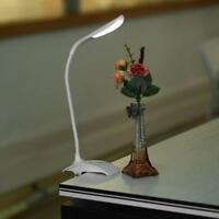 Dimmable Clip-On USB Rechargeable Touch LED Reading Light Desk Table Lamp BT