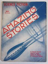 Amazing Stories  Vol 8   #2  Pulp  May 1933 Siggmond cover, Verrill, Jones