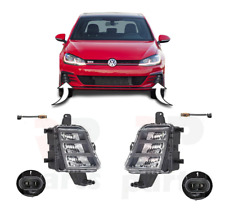 FOR VW GOLF VII GTI 2017 - 2019 NEW FRONT BUMPER FOGLIGHT LAMP LED PAIR SET