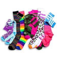 TUBE SOCKS Knee High Ribbed Stripe OLD SCHOOL Geek Socks JOCK SOCKS Boot Toppers