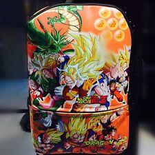 DragonBall Z DBZ Super Saiyan Son Goku Printed Backpack School Shoulder Bag New
