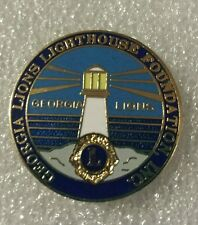 Lions Club Pin Georgia Lighthouse Vintage Lion Collectible