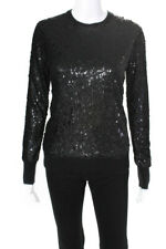 Equipment Womens Crystal Sweater Black Size XS