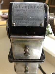 1900 Antique Wizard Pencil Sharpener! Functional, Great Prop For Antique Desk!