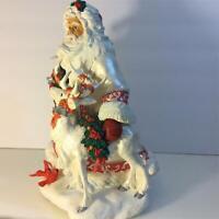 San Francico Music Box Company The Holly and The Ivy Santa  (B1)