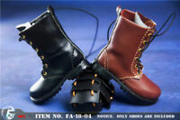 Custom Boots Toy 1/6 Male Leather Combat Shoes Model For 12'' Figure Doll Gift