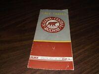 APRIL 1955 ALGOMA CENTRAL RAILWAY PUBLIC TIMETABLE