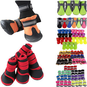 4pc/set Cute Small Pet Dog Puppy Shoes Anti-Slip Paw Protector Outdors Boots New