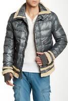 Men`s New JET LAG Genuine Down Jacket Faux Fur Trim Puffer Coat Sizes S to 3XL
