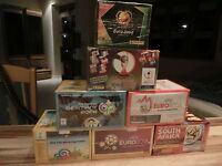 7 x PANINI BOX EURO WM 2002 2004 2006 2008 2010 2012 2014 = 600 sealed packs