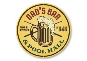 Bar and Pool Hall Sign, Gameroom Sign, Man Cave Aluminum Sign