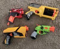 LOT OF 4 MINT Nerf  Guns ~ Dart Blaster ~ Big Shock ~ Zombie Strike - Maverick