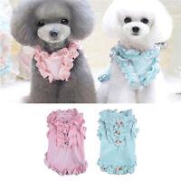 Fashion Summer Pet Dog Cat Lace Shirt Dress Cotton Clothes Puppy Vest Apparel