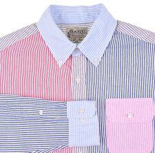 Michael Bastian x Gant LINEN COTTON Multi Color Patch-Work FUN Shirt L