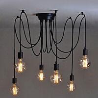 Vintage multiple ajustable plafonnier Spider lampe lumière pendentif 6 têtes  LT