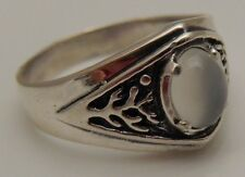 Celtic Tree of Life Ring .925 Sterling Silver Size 10 World Tree w/ Moonstone