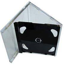 100 DOPPIO CD JEWEL CASE 10.4mm standard per 2 CD Con Nero Pieghevole Vassoio AAA