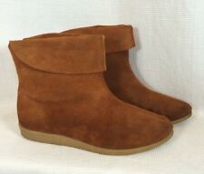 Vintage 70's Women's Size 7 Brown Suede Leather Chukka Ankle Boots Boho Hippie