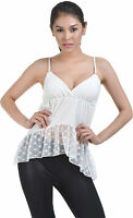 Pretty Ladies Lace Camisole Top - Womens Wedding Lingerie Tank Cami Vest Shirt
