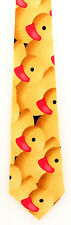Rubber Duckies Mens Neck Tie Duck Yellow Novelty Gift Necktie Bath Bird New