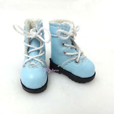 "16cm Lati Yellow Basic Bjd 12""  Blythe Pullip Doll Shoes High Hill Boots BLUE"