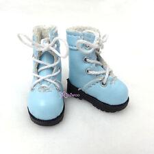 "16cm Lati Yellow Basic Bjd 12""  Blythe Pullip Doll Shoes High Hill Boots BLUE"