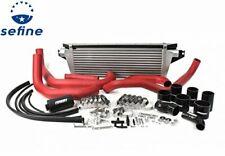 Perrin Red Boost Tube w/ Black Silicone For 08 - 14 Subaru Impreza WRX