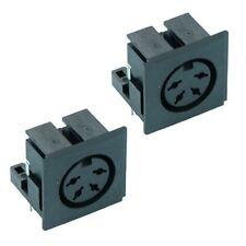 2 x Conector de Audio Din Socket PCB 4-Way