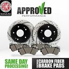 Front Premium Drilled and Slotted Performance Brake Rotors & Carbon Fiber Pads
