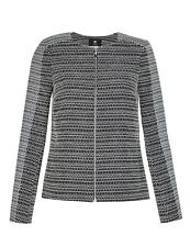 M & S COLLECTION BEST OF BRITISH SZ6 GREY JACQUARD TEXTURED BIKER JACKET RRP£199