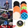 11x 5''/6''/7'' Sponge Polishing Waxing Buffing buffer Pad Kit For Car