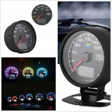 "2.5"" Round 7-Color LED Car LCD Digital Oil Temp Gauge Voltage Meter+Accessories"