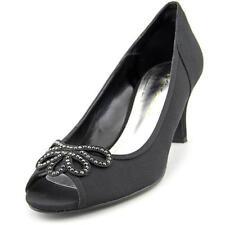 Canvas Open Toe Solid Heels for Women
